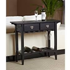 sofa table with wine storage. Image Is Loading Mission-Style-Console-Table-Wine-Rack-Home-Bar- Sofa Table With Wine Storage