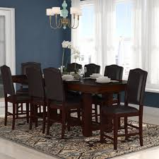 world menagerie manning 9 piece counter height dining set wayfair inside eye catching counter height dining chairs