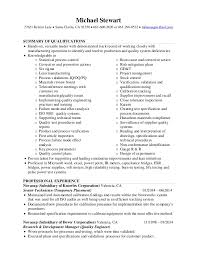 Quality Engineer Resume Gorgeous Mike Stewart Resume Quality Engineer 6060