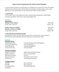 8 Sample Basic Resumes Pdf Doc Sample Templates