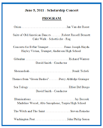 sample concert program sample concert programs pro88 tk