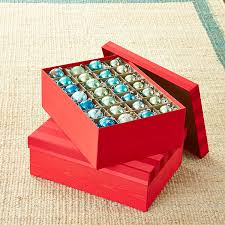 Container Store Ornament Storage Gorgeous Red Moiré Archival Ornament Storage Box The Container Store