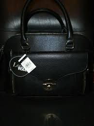 wilson s leather black rivet 3 in 1 purse handbag set with tags for