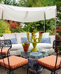 diy outdoor garden furniture ideas. Outdoor Garden Decor Ideas Patio Contemporary With Ceramic Stools Metal Furniture Diy