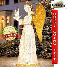 lighted angel outdoor decorations throughout size x lawn decoration lighting can enhance any room yard