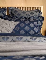 pinecones midnight blue duvet cover