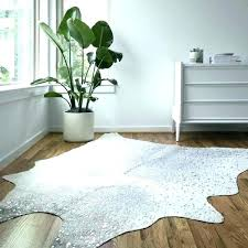 small cowhide rug white faux cowhide rug grey silver x 8 house stuff area gold and