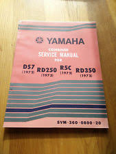 yamaha ds7 rd250 r5c rd350 service manual owners factory dealer book old
