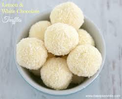 lemon white chocolate truffles