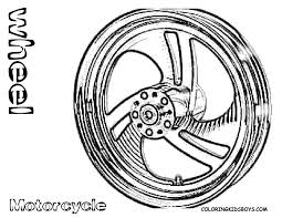 Print picture of motorcycle wheel