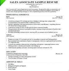 Customer Service And Sales Resume Impressive Customer Service Associate Job Description Resume Retail Salesperson