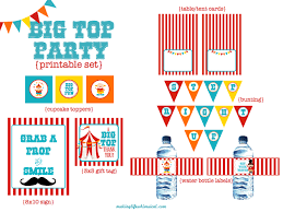 Printable Carnival Tickets We Heart Parties Free Printables Big Top Circus Party Free Printables