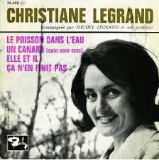 Pochette illustrée par une photo de <b>Christiane LEGRAND</b> signée André GORNET - legrand_c_legrand_c__ep_un_canard6010