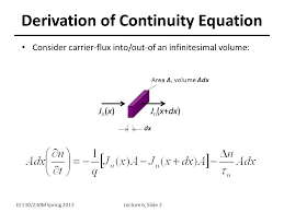 continuity equation physics. derivation of continuity equation physics