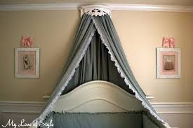 Bed Crown & Canopy Tutorial · How To Make A Bed Canopy · Home + DIY ...