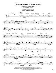Tenor Sax Chart Stan Getz Come Rain Or Come Shine Sheet Music Notes Chords Download Printable Tenor Sax Transcription Sku 181460
