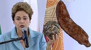 """Resultado de imagem para imagens  Dilma, saudando a """"mandioca"""