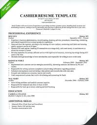 Cashier Experience Resume Cashier Resume Template Professional