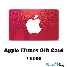 apple itunes gift card india inr 1000