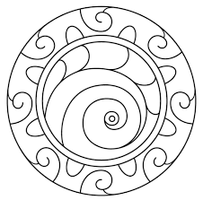 mandala with spiral pattern coloring page mandala with spiral pattern coloring page free printable on spiral pattern template
