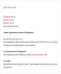 Letter Bussines Sample Business Appointment Letter 7 Examples In Pdf Word