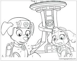 Coloring Pages Paw Patrol Zuma Chase Portrait Free Coloring Page