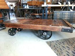 vintage cart coffee table large image for old factory cart wheels antique factory cart coffee table