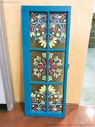 transform an old window into a colorful and patterned decor accent diy how to