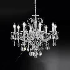 crystal chandelier chrome frame kolarz