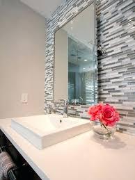 glass bathroom countertops master bathroom white quartz counter tops vessel sinks chrome faucets linear glass tile glass bathroom countertops