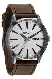 17 best ideas about mens nixon watches nixon the sentry leather strap watch 42mm nixon watchesmen