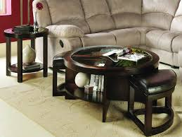 round ottoman coffee table glass top