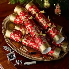6 Weihnachtsstern Knallbonbons