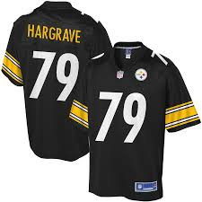 Hargrave Nfl Line - Black Javon Jersey Pittsburgh Pro Steelers Youth Player