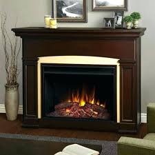 realistic flame electric fireplace a dark walnut real flame freestanding electric fireplaces fireplace looking cau white