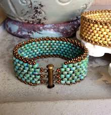 hence my selection of bead weaving bracelets as my staff pick for the month of june