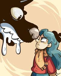 """Stephan Commissions Open on Twitter: """"I don't think I put this one up... 🤔  Hilda and the Black Hound #Hildatheseries #Hilda… """""""