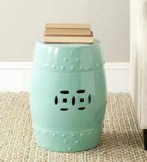 light aqua modern ming garden stool
