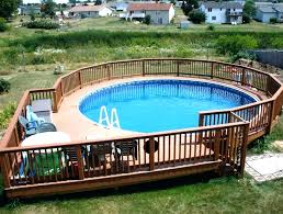 onground pool decks above ground also cost to install images of v8