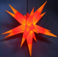 Details Zu Xxl Jumbo 100cm Adventsstern Rot Gelb Außenstern 3d Außen Stern Weihnachtsstern