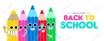 Welcome Back To School Web Banner Illustration With Happy Color
