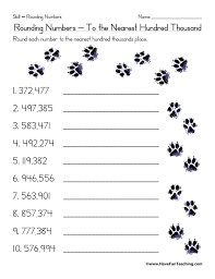 Rounding to the Nearest Hundred Thousand Worksheet | Have Fun Teaching