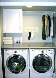 countertop clothes washer above washer and dryer by