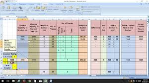 Copper Bus Bar Sizing Chart Bus Bar Calculation