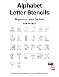 Alphabet Letter Stencils Uppercase Outline