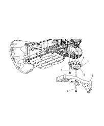 2007 chrysler 300 mount transmission diagram i2163823