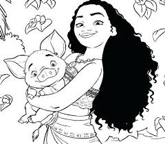 Coloring Pages Of Moana Baby Printable Thinkiqco