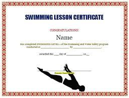 Swimming Certificates Template Rome Fontanacountryinn Com