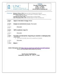 Staff Meeting Agenda Faculty And Staff Meetings UNC Gillings School Of Global Public 22