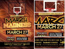 March Madness Flyer March Madness Basketball Flyer Template V3 Flyerheroes